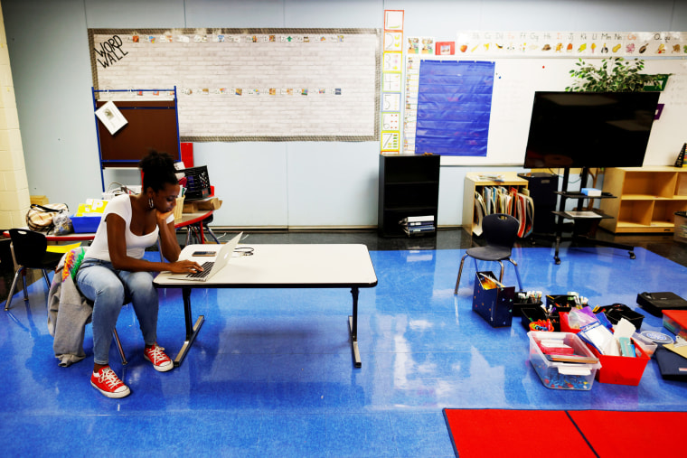 Image: FILE PHOTO: Preparations for the first day of the school year in Boston