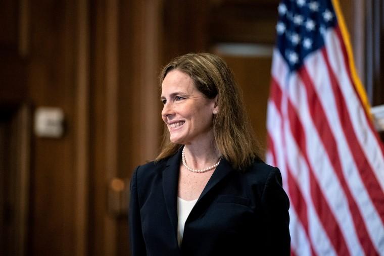 Image: Barrett meets with U.S. senators ahead of vote on her nomination
