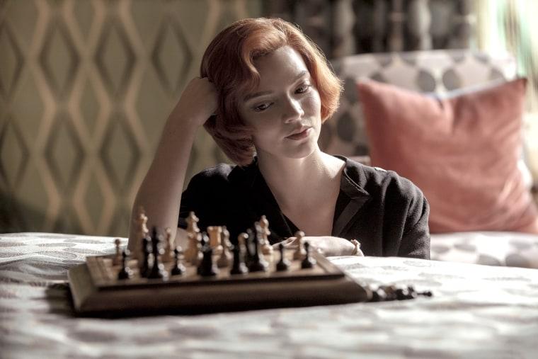 "Anya Taylor-Joy as Beth Harmon in ""The Queen's Gambit"" on Netflix."
