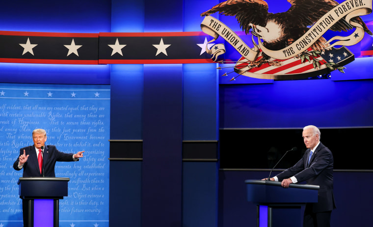 Image: Final 2020 U.S. presidential campaign debate in Nashville