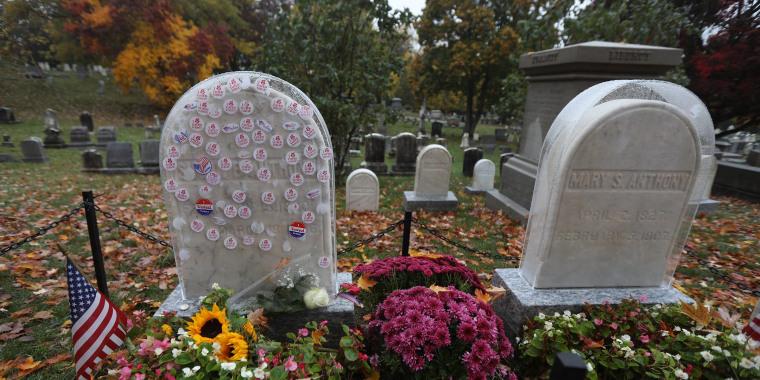 Susan B. Anthony's headstone