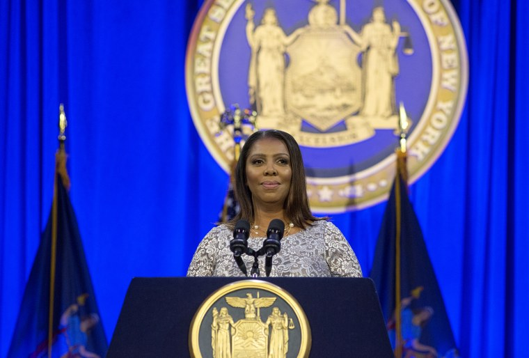 Image: New York State Attorney General Letitia James takes her oath of office