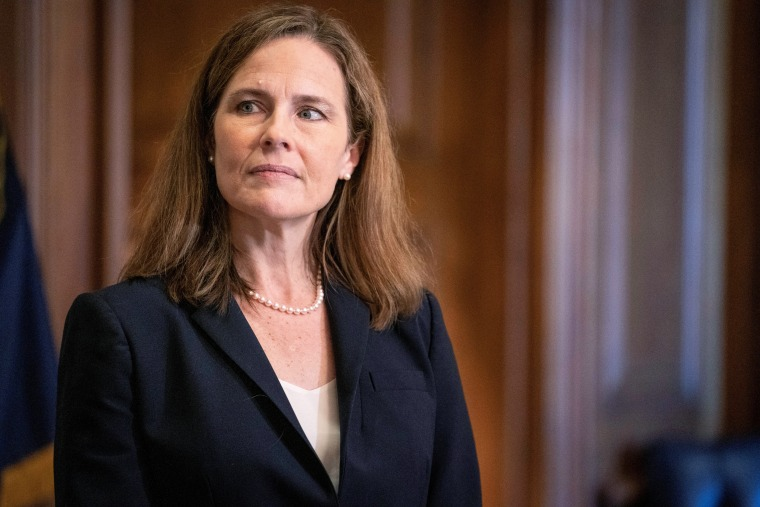 Image: FILE PHOTO: Barrett meets with U.S. senators ahead of vote on her nomination