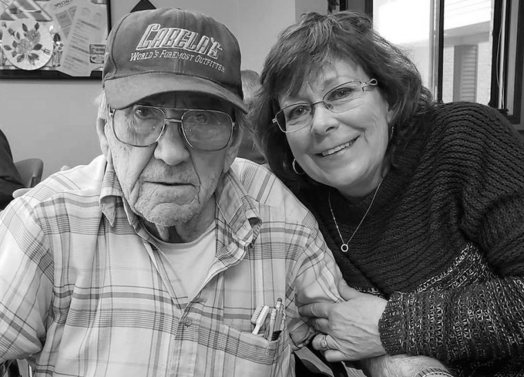 Tammy Roberg with her father, Chester Peske.