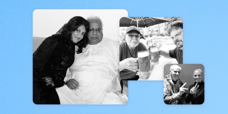 Image: Sabila and Shafqat Khan; Brian and John Walter; and Debra McCoskey-Reisert and her brother, Bobby.