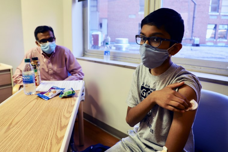Sharat and his 12-year-old son, Abhinav, are both participating in Pfizer's Covid-19 vaccine trial at Cincinnati Children's Hospital Medical Center.