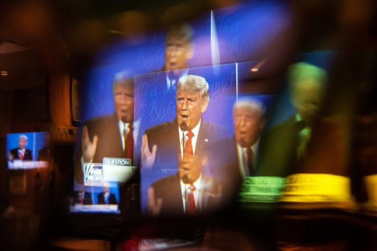 Image: Americans Watch Final Presidential Debate Between Donald Trump And Joe Biden