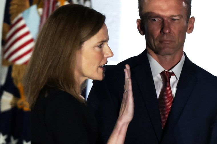 Image: Amy Coney Barrett Is Sworn-In As New Supreme Court Justice At The White House