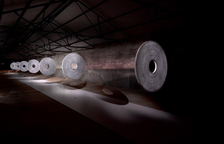"An installation view of Ben Gentilli's ""Portraits of a Mind."""