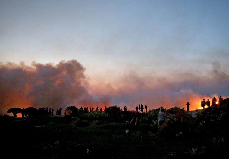 Image: Silverado Fire In Orange Country, California Forces Evacuations