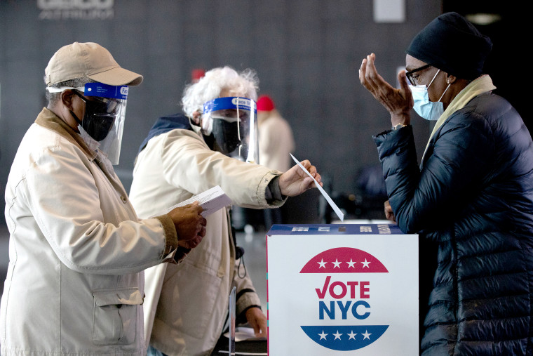 New York Residents Cast Ballots As Early Voting For U.S. Presidential Election Begins