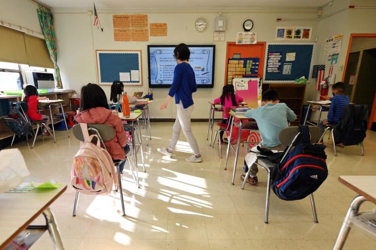 Image: New York City School Children Return To In-Person Classes