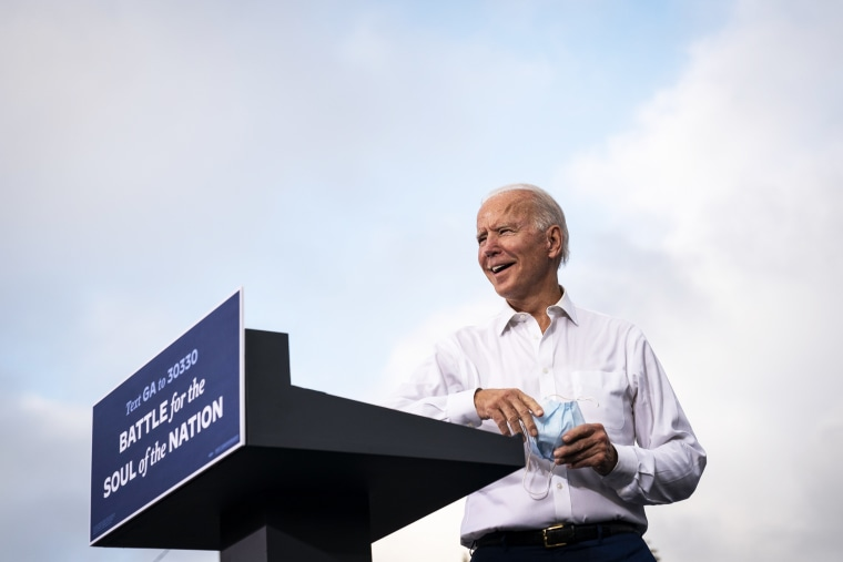 Image: Democratic Presidential Nominee Joe Biden Campaigns In Georgia