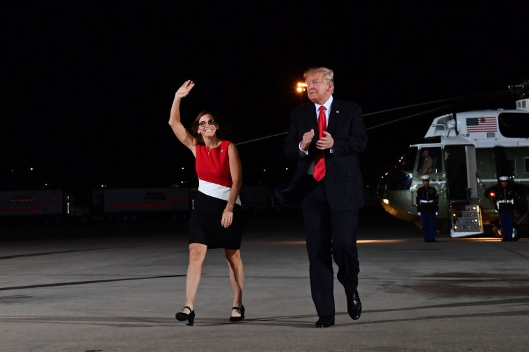 Image: Martha McSally and President Donald Trump