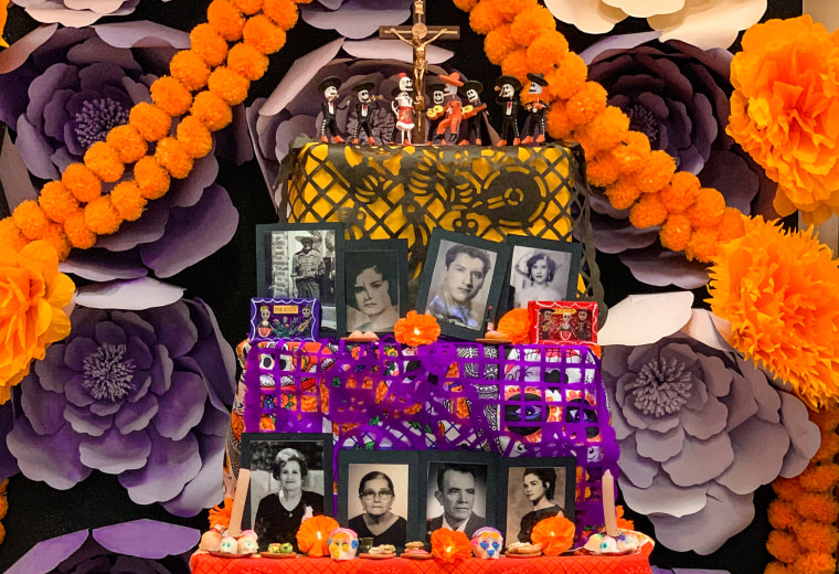 An altar created by Jennifer Zepeda of Santa Rosa, Calif., to celebrate the Day of the Dead.