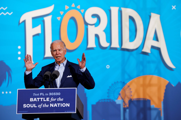 Image: Democratic U.S. presidential nominee and former Vice President Biden campaigns in Florida