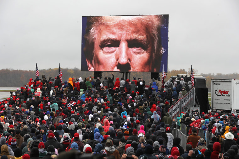 Image: Donald Trump Campaigns For Re-Election In Michigan