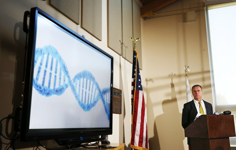 El Dorado County District Attorney Vern Pierson discusses how new DNA evidence was used to help exonerate a man who spent about 15 years in prison after being wrongly convicted of killing his housemate, during a news conference in Placerville, Calif., on Feb. 13, 2020.