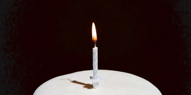 Candle on a birthday cake