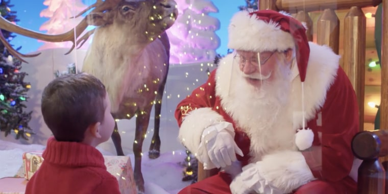 Stores are creating new Santa Claus experiences for visitors amid the coronavirus pandemic.