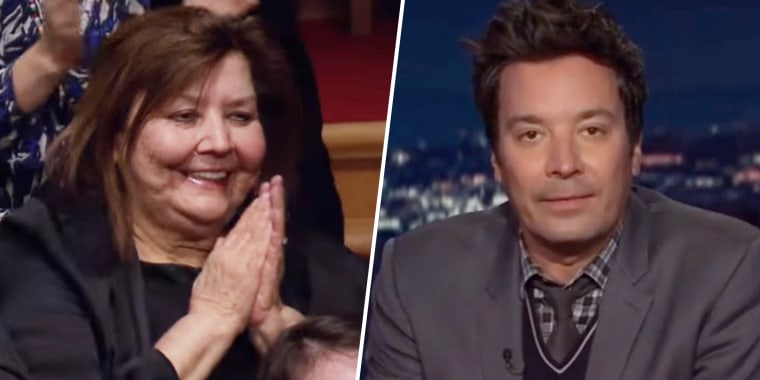 "Jimmy Fallon paid tribute to his mom on ""The Tonight Show"" on the third anniversary of her passing Wednesday."