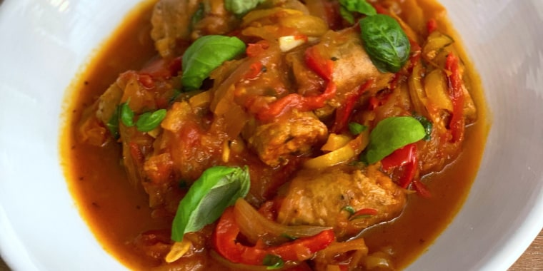 Scott Conant's Mom's Sausage and Peppers