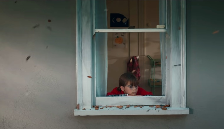 The little girl worries when her neighbor doesn't appear at her window for weeks on end.