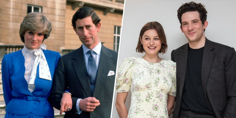 """Princess Diana and Prince Charles are portrayed by actors Emma Corrin and Josh O'Connor in the fourth season of """"The Crown"""" on Netflix."""
