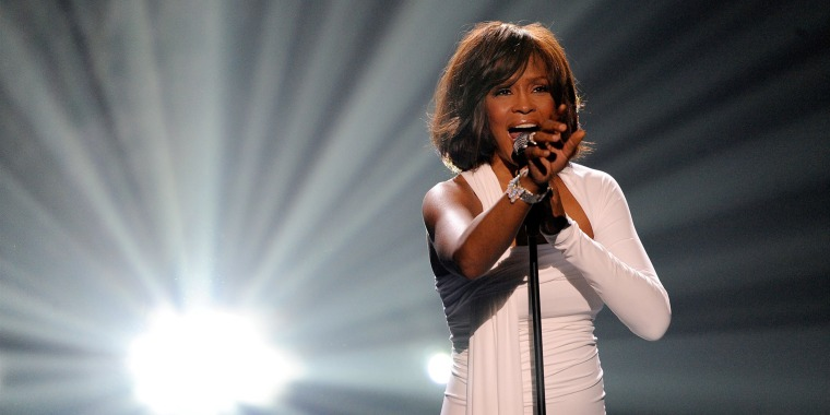 Whitney Houston onstage at the American Music Awards at Nokia Theatre on Nov. 22, 2009 in Los Angeles.