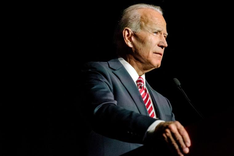 Image: Former Vice President Joe Biden speaks in Dover, Delaware, on March 16, 2019.