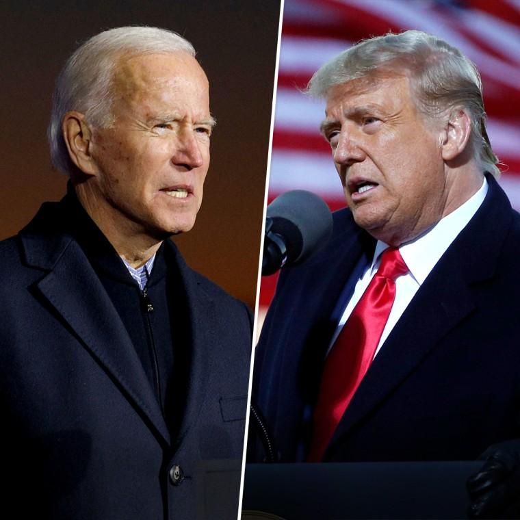 Donald Trump, Joe Biden.