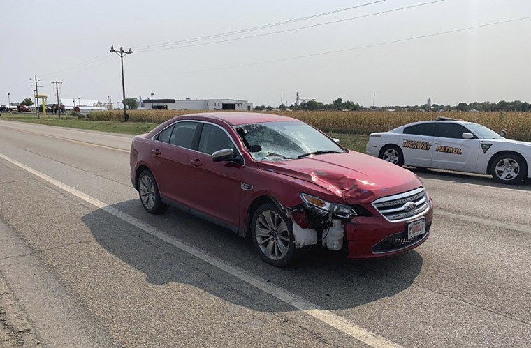 Image: The car that South Dakota Attorney General Jason Ravnsborg was driving on Sept. 12, 2020 when he he struck and killed a pedestrian.