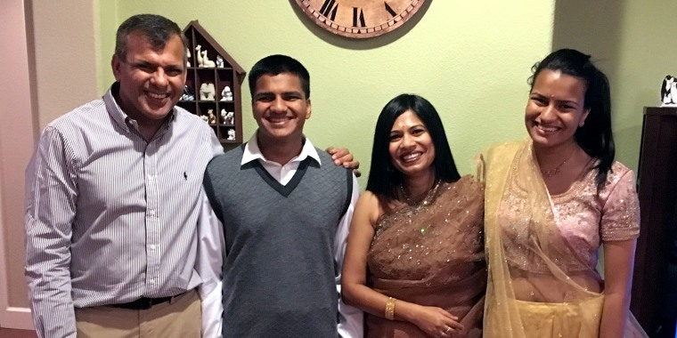 The Khuranas at their home in California in 2015, hosting their annual Diwali party.
