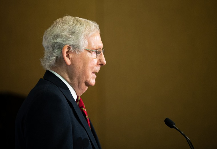 Image: Sen. Mitch McConnell Holds Press Conference To Discuss Election Results