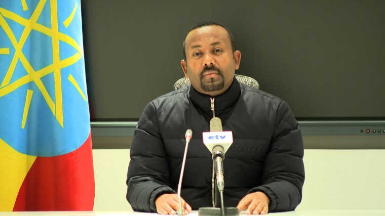 Image: Ethiopian Prime Minister Abiy Ahmed saying that he is ordering a military response to a deadly attack by the ruling party of Tigray, a region locked in a long-running dispute with Addis Ababa, on a camp housing federal troops