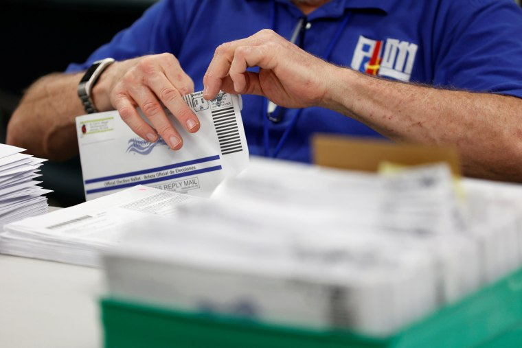 Image: Mail-in ballots are counted in Lehigh County, Pennsylvania