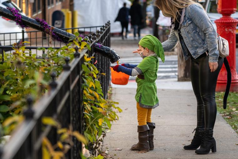 Image: Halloween Celebrated In New York City Amid Coronavirus Pandemic