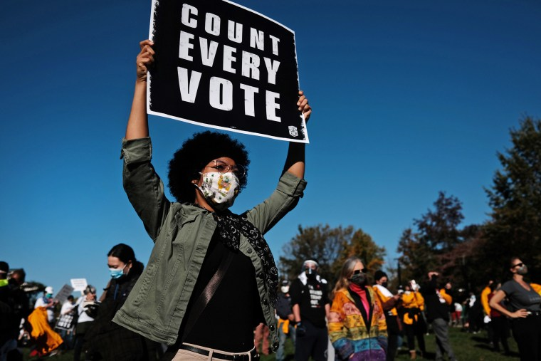 """Image: BESTPIX - Protestors Hold \""""Count Every Vote\"""" Protest Rally In Philadelphia"""