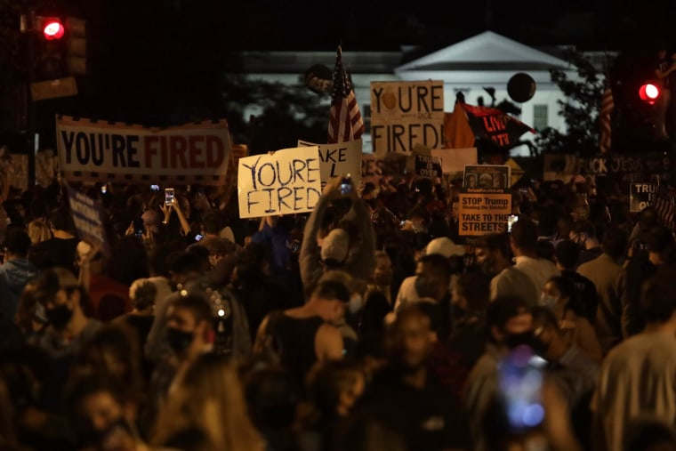 Image: Supporters Of Joe Biden Celebrate Across The Country, After Major Networks Projection Him Winning The Presidency