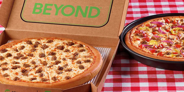 Beyond Meat is teaming up with Pizza Hut to add its meatless sausage to its menu.