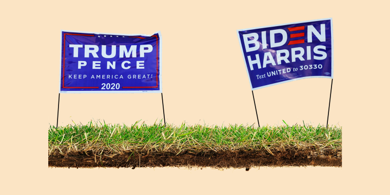 Campaign signs are challenging to recycle because they're made from multiple materials, such as metal, plastic and cardboard.