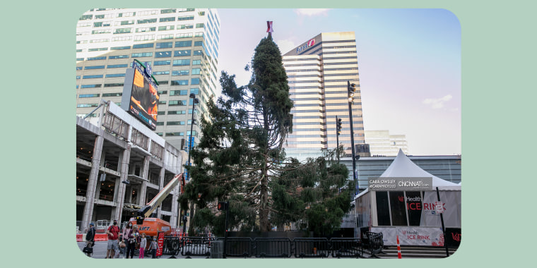 The Christmas Tree at Fountain Square