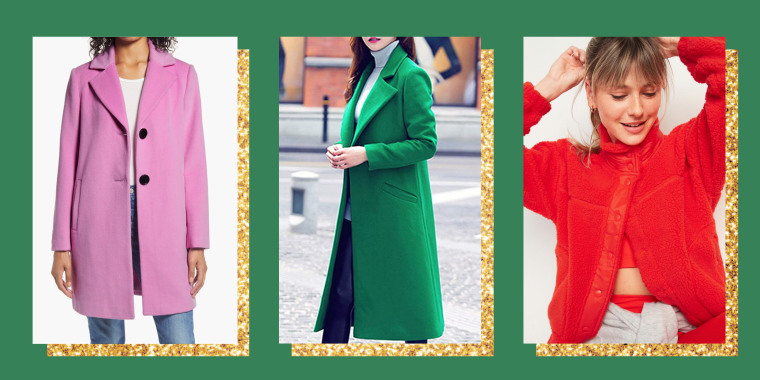 Bright winter coats and jackets under $150