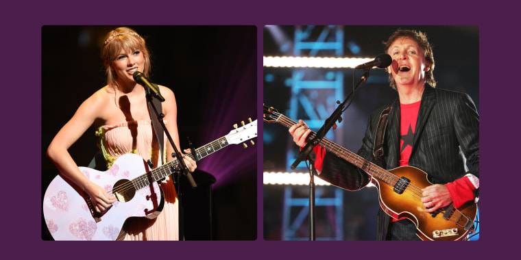 Paul McCartney and Taylor Swift have some similar songwriting processes.