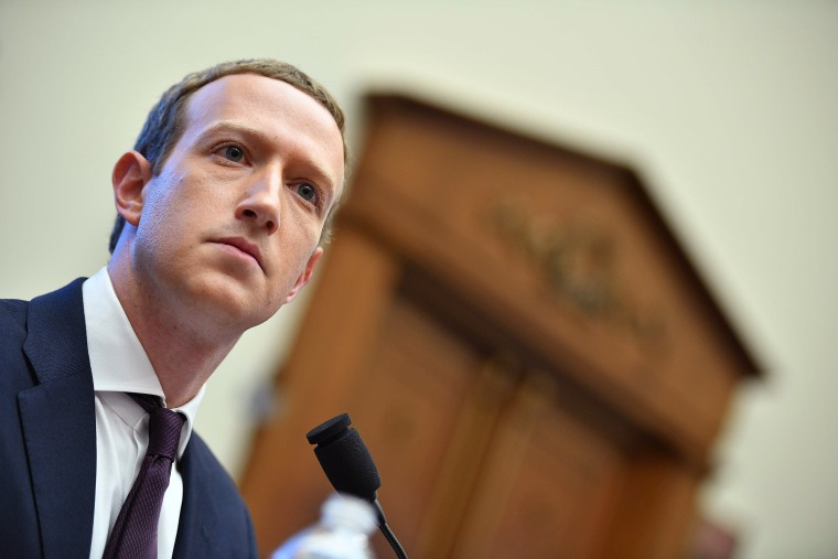 Image: Facebook Chairman and CEO Mark Zuckerberg testifies before the House Financial Services Committee.