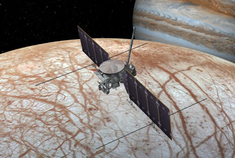 Image: NASA's Europa Clipper will conduct detailed reconnaissance of Jupiter's moon Europa and investigate whether the icy moon could harbor conditions suitable for life.
