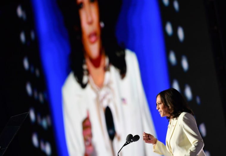 Image: Vice President-elect Kamala Harris delivers remarks in Wilmington, Del.