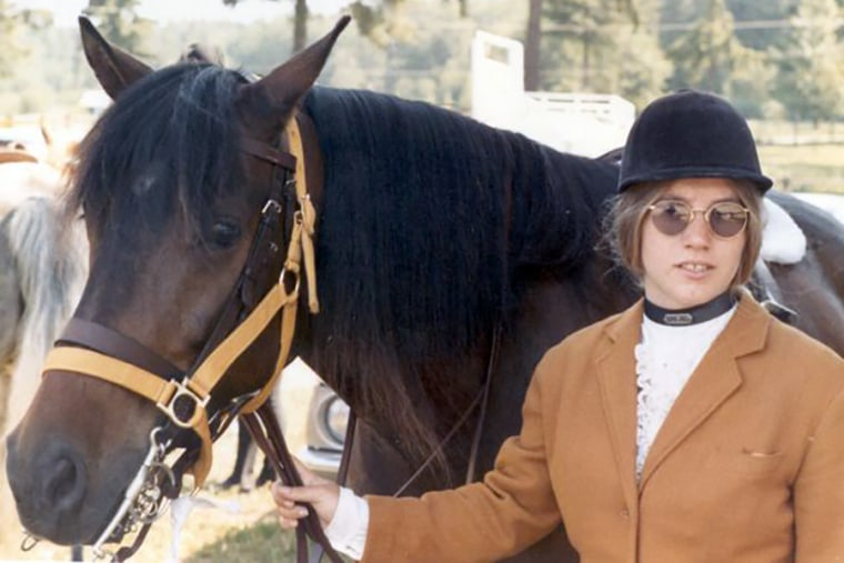 Jody Loomis with her horse in 1972.