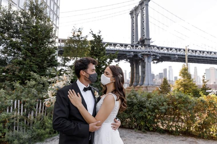 Image: Bride and groom Kristina and Ramon Tafuri-Taylor
