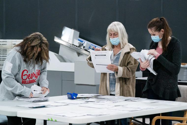 Image: Georgia Election Officials Continue Ballot Counting